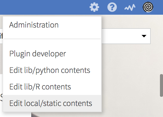 How to use custom Javascript and CSS files in a web app