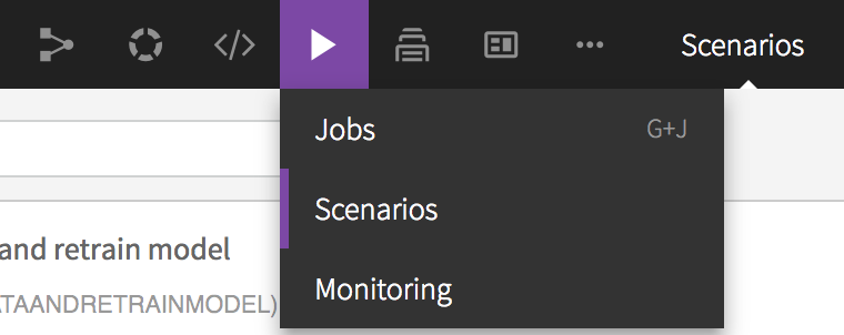 Jobs navigation bar