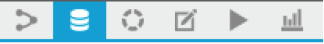 The Dataiku toolbar with the Datasets icon highlighted