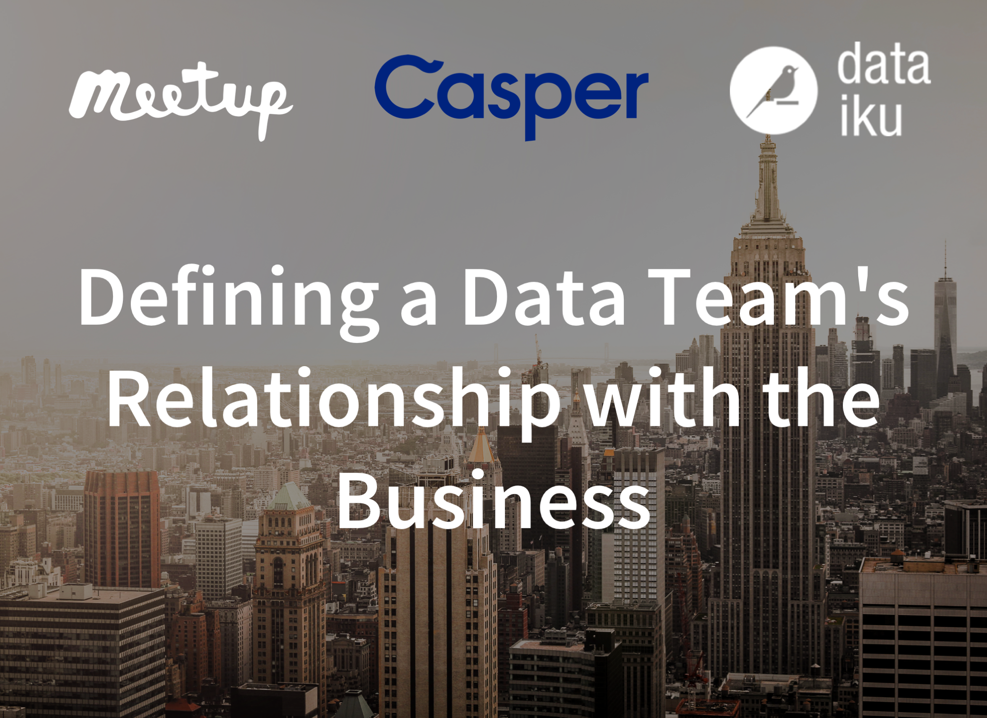 Defining a Data Team's Relationship with the Business