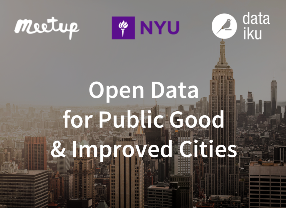 Open Data for Public Good and Improved Cities
