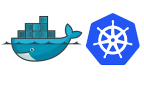 Docker and Kubernetes logos