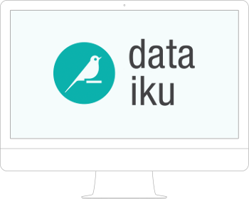 Illustration of a computer with Dataiku DSS