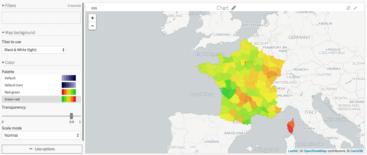 Plugin reverse geocoding admin maps dataiku product screenshot of a gas price distribution map gumiabroncs Gallery