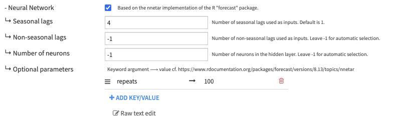 Expert model parameters