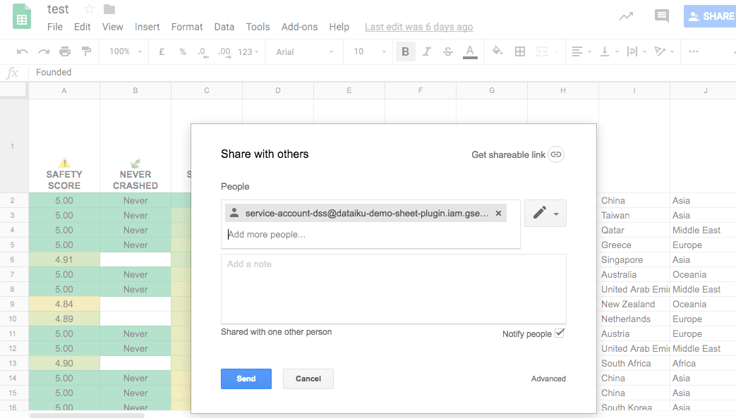 Share Google Docs with other