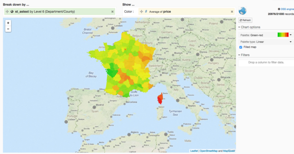 Geographic data visualization (BETA)