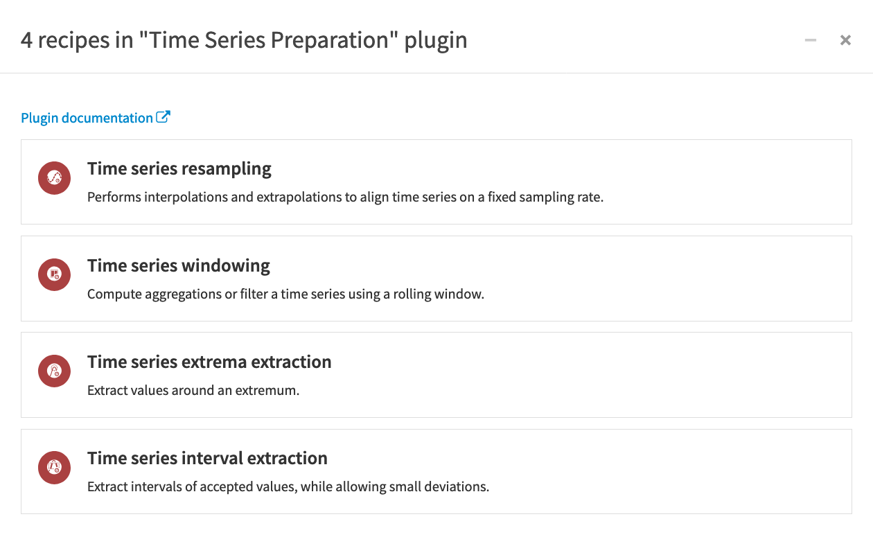 An example flow using time series preparation recipes