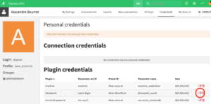 Dataiku DSS screenshot showing the authorization token request