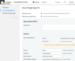 Dataiku DSS screenshot showing the plugin preset form