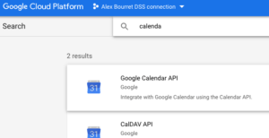 Activating Google Calendar API for Dataiku DSS